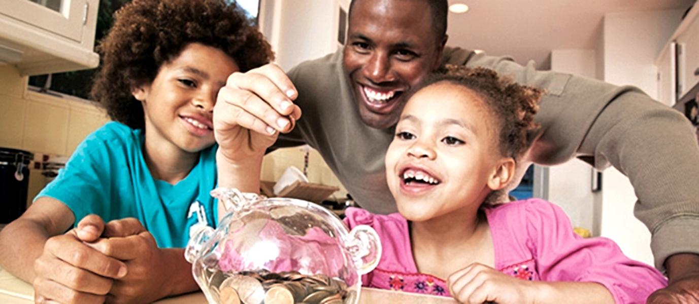 black-dad-kids-money