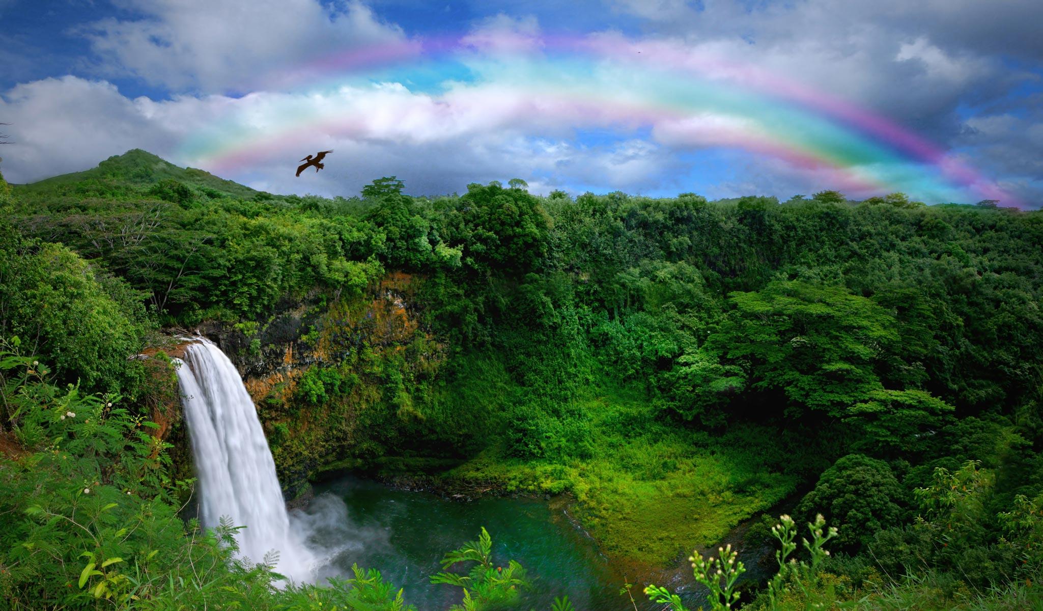 Kauai-Island-Waterfall-in-Hawaii