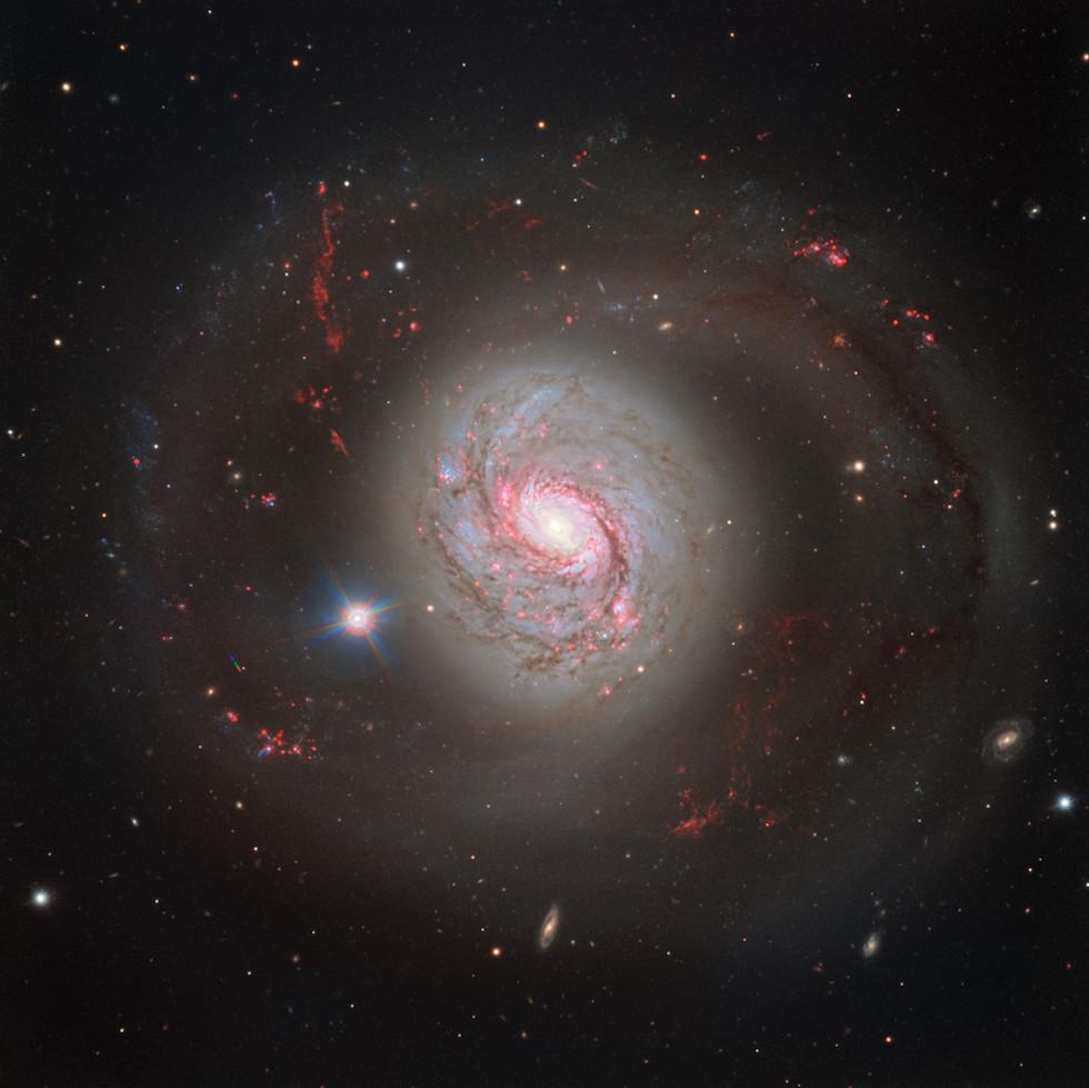 La galassia a spirale M77 osservata dal Very Large Telescope dell'European Southern Observatory in Cile. Dista circa 47 milioni di anni luce da noi.  (ESO)