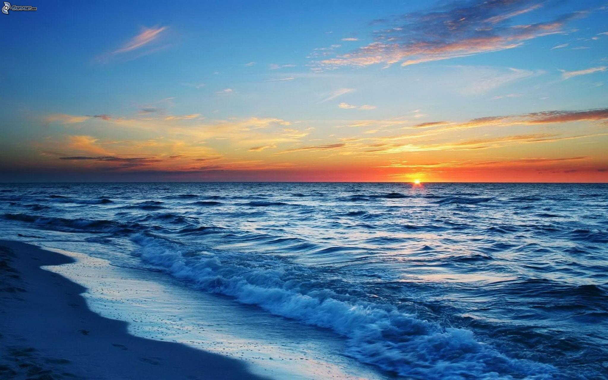 puesta-de-sol-sobre-el-oceano,-playa-205898