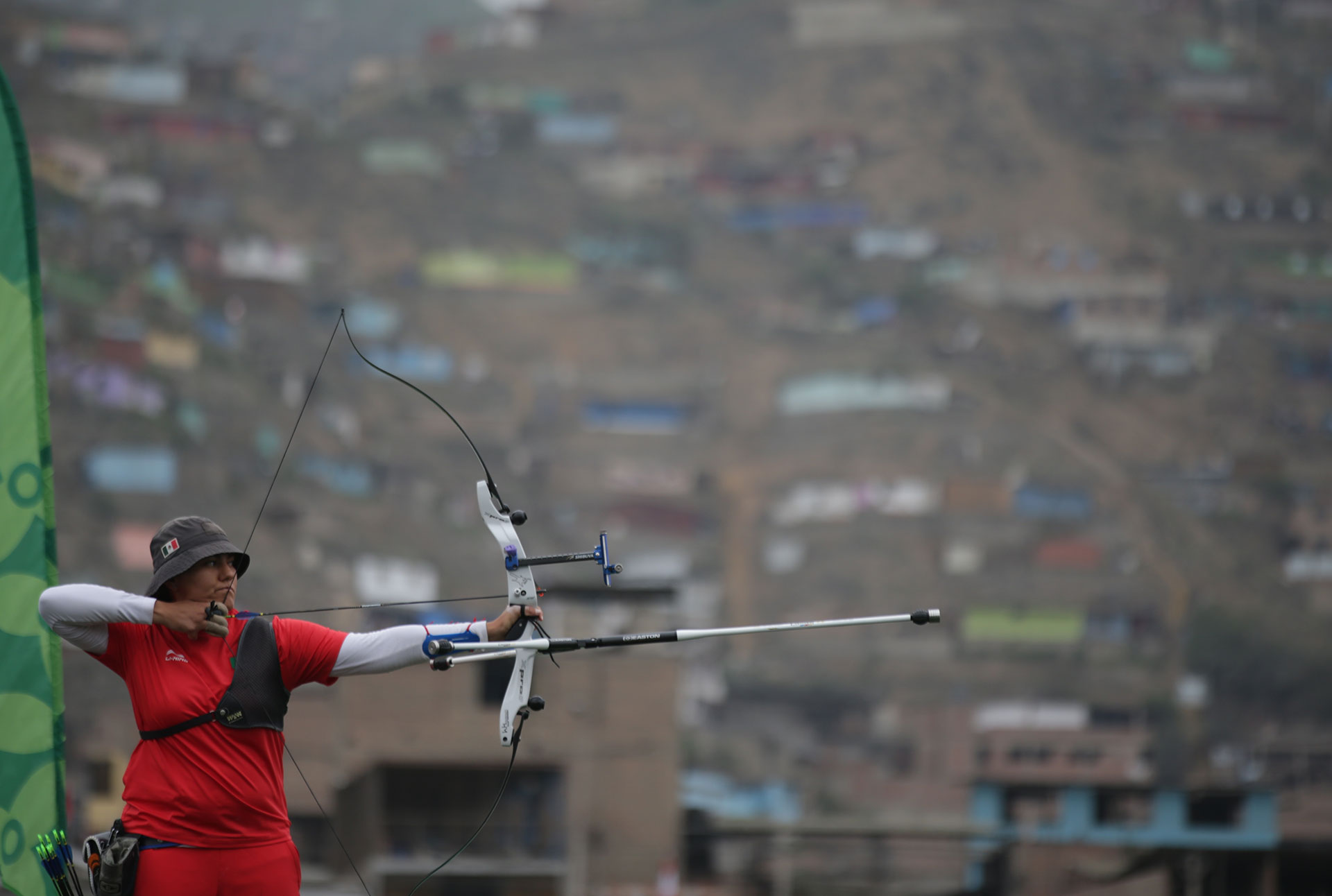 XVIII Pan American Games - Lima 2019 - Archery - Women's Recurve Individual Gold Medal Match - Rugby Field, Lima, Peru - August 11, 2019. Mexico's Alejandra Valencia Trujillo in action en route to winning a gold medal. REUTERS/Guadalupe Pardo