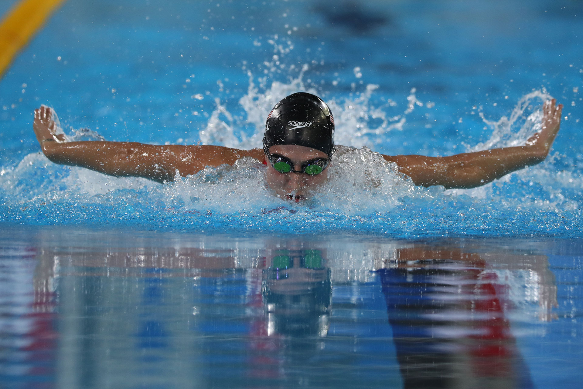 Swimming  XVIII Pan American Games - Lima 2019 - Women's 200m Individual Medley - Aquatic Center, Lima, Peru - August 10, 2019. Meghan Small of the U.S., in action. REUTERS/Sergio Moraes